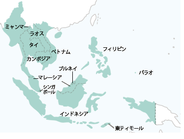 東南アジア地図