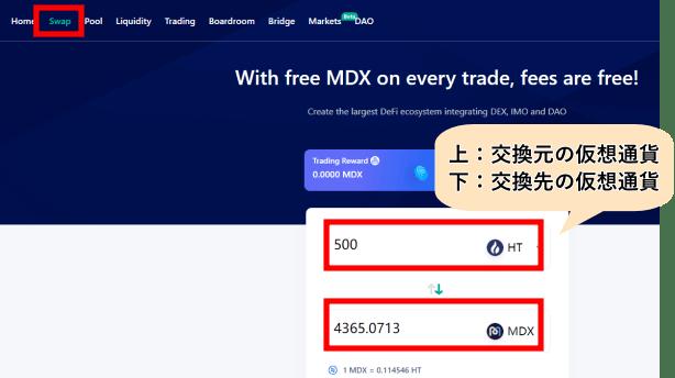 MDEXのSwap方法
